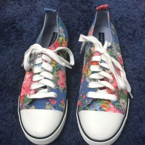 Ralph Lauren Shoes - Ralph Lauren Floral Rubber Toe Cap Sneaker